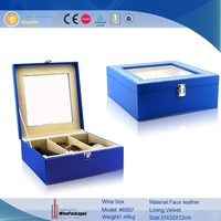 high quality recyclable 3 bottle rectangle shaped paper wine box