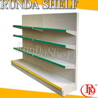 refrigerated slot stand retail equipment 4 way perforated gondola