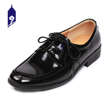 formal black high quality cheap pure leather men shoes