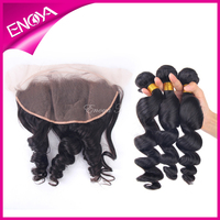 Directly Factory Price Lace Frontal With Malaysian Virgin Hair Weave Bundles