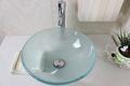 buque lavamanos vanidad de cristal templado fregadero recipiente de vidrio N-369