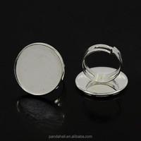Adjustable Mens Ring Blanks for 25mm Round Cabochon (J24J4061)