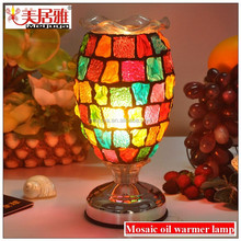 mosaic glass oil burner aroma lamp incense warmer