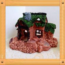 casa de resina rockery de artículos de tapicería en miniatura modelo de casas