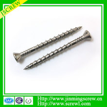 China screws manufacturer shank rib, type 17 point stainless steel deck screw