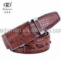 High Quality Design Crocodiled shaped buckle Genuine Leather belt for men