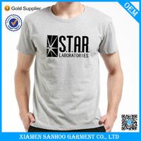 Cotton Spandex Wholesale Man Custom T-Shirt Print Your Own Logo Silk Screen Printing All Sizes