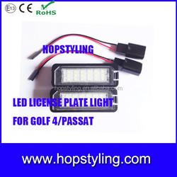 Direct manufacture auto led light Golf 6 Golf 7 led license plate light led tail light license plate light for VW Golf4 Passat