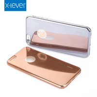 Luxury Metal Electroplating tpu Bumper Mirror Back Case For iPhone 6