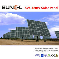 250w solar modules pv panel with solar cells 6x6