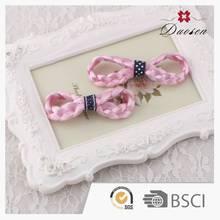 Lightweight Trendy Custom Design Grosgrain Kids Ribbon Bow Hair Clip With Clips