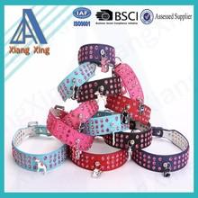 Wholesale pink rhinestone rivet luxury collar for pets