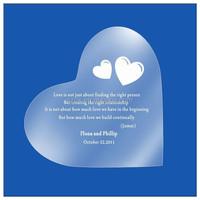 heart shape frosted stylish acrylic wedding invitation