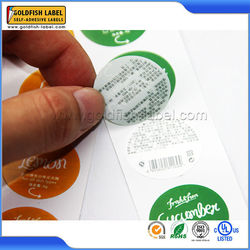 New design factory price round double sided stickers