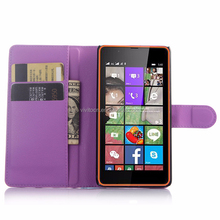 Luxury leather flip wallet cover case For microsoft nokia lumia 540