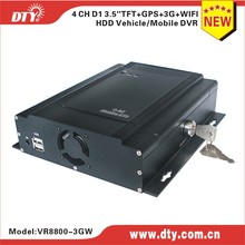 Wireless 3G Mobile DVR 4CH Mobile CCTV DVR Kit for Truck/Bus/Taxi/Fuel Tank Fleet Management Real-time Monitoring