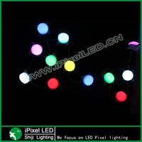 dmx controller individual address 45mm diameter round led string pixel light 6 leds