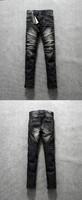 Hot sale denim pent ripped black skinny jeans wholesale uk