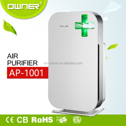 portabled air purifier for home use items with two layers of filter and high-speed AC Motor