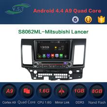 Android 4.4 Car audio stereo system/radio/dvd/gps navi for Mitsubishi Lancer