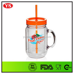 discount product 20 oz straw mason jar plastic with handle