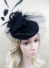Fashion sinamay fascinator with lace base for hair accessories races/church/wedding/party