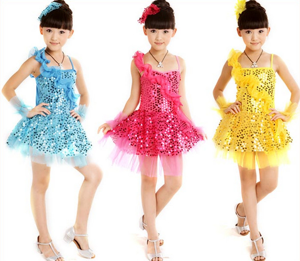Clothes High Quality Children Sequine Costume Children Latin American ...