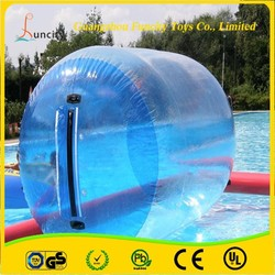 0.8 or 1.0mm PVC / TPU inflatable water roller,durable inflatable water wheel, human hamster ball