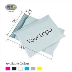 "Plain White Opaque Plastic Mailer Shipping Courier Bag 100 pieces 15.5"" x 12"" + 2"" Flap"