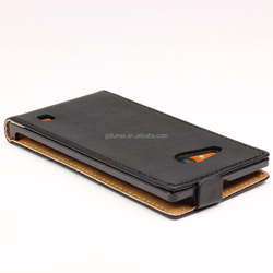 Handful vertical flip high quality leather magnetic closure case for Nokia Lumia 730