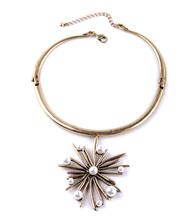 Women Accessories 2015 Simple Flower Pendant Indian Necklace