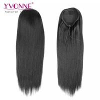 Wholesale kinky straight pony tail human hair