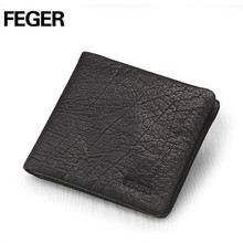 Retro Black Brand Men Soft Leather Short Flap Wallet