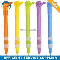Hand Shape Plastic Short Promotional Ballpoint Pen