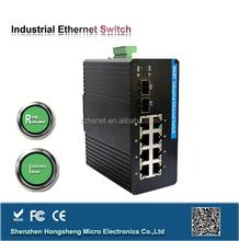 Bandwidth management 8 port optical ethernet switch