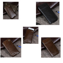 wholesale top layer gunuine leather smart phone case cover for cell phone