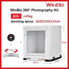 winbiz product photography equipment with Pc-controlled 360 degrees rotating turntable for portfolio, cosmetic, shoes ,toy etc