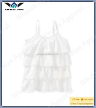 New design plain white chiffon tops lady girls tops sleeveless tops