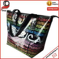 city name printed PVC shopper bag
