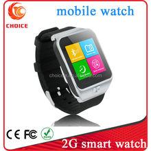 Best 2G touch screen bluetooth handsfree men brand smart watch and phone