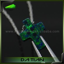 Price Per Gram of Pendant Necklace Opal 9*12mm OP#19 Dark Green Opal Stone Fashion Designer Earring