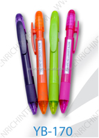 Plastic ballpoint pen promotional ball pen rubber touch window message pen