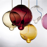Hand blown glass chandeliers modern suspension lamps glass chandeliers pendant for home hotel restaurant decoration