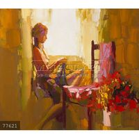 100% Handmade sex beautiful girl picture painting Nude on canvas, Nicola Simbari Reproduction #77621