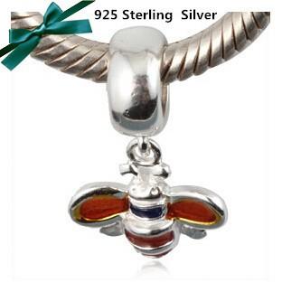 Кулон серебро 925 пробы 100% найти аксессуары пчела Амулеты подходит Европейский браслет Пандора ожерелье vk2253