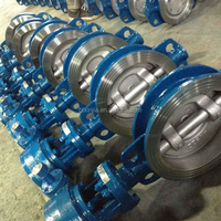 motorized actuator wafer type butterfly valve