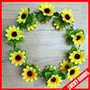 wholesale fashion artificial sunflower silk flower wedding wreath