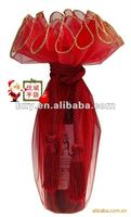 red silk pouch for winebottle