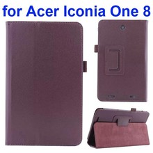 Alibaba China Folio Leather Case for Acer Iconia One 8 B1-810 with kickstand