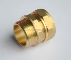 """For copper pipe hexagon nut CW617N materia Kiwa Approved 15mm x 1/2"""" BSP Male thread compression brass fitting manufacture"""